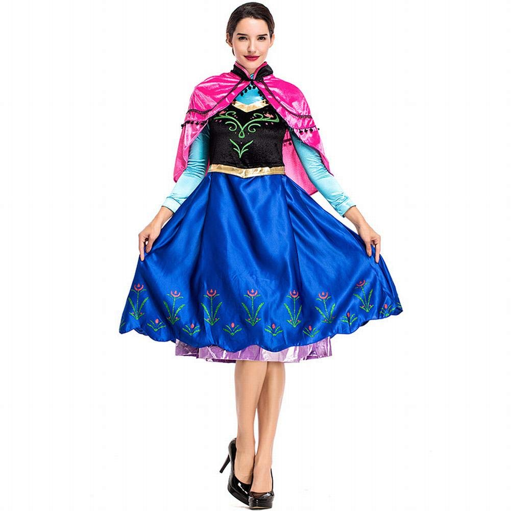 LTFT Princess Costume Adult Women Anna Elsa Coronation Dress Snow Queen Fancy Party Dress Up
