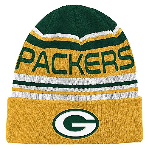 Green Bay Packers Youth Cuffed Knit Beanie by Outerstuff (Green Beanie Packers Bay Youth)