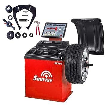 SR308 equilibrador de ruedas neumático, precortadas máquina borde coche Heavy Duty: Amazon.es: Coche y moto