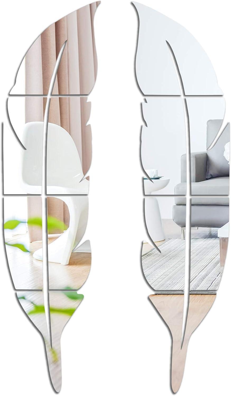 2 Pcs 3D Mirror Room Decor Stickers, 12