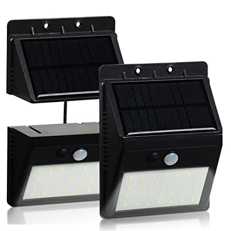 T-SUN Foco Solar Exterior, Luz de Pared al Aire Libre de 28 LED
