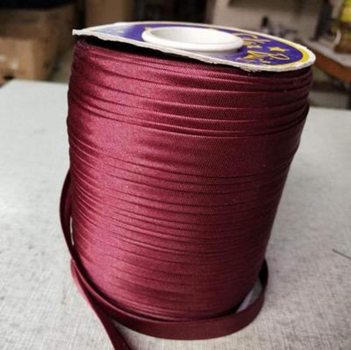Hemming Binding Piping Quilting; Sewing Crafts 1//2 Inch 87 Yards, Wine Red Seaming CHENGYIDA Single Fold Bias Tape for Sewing