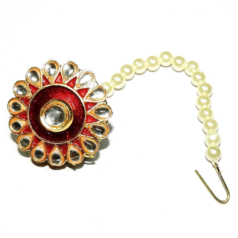 Khushigems Natural White Pearl Gemstone Kundan Meena Rajputi ...