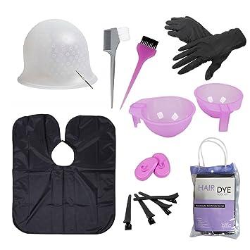 Amazon bmc hair dye coloring diy beauty salon tool kit bmc hair dye coloring diy beauty salon tool kit highlighting cap hook long solutioingenieria Images
