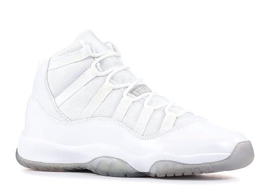 new style 87354 97dfa Amazon.com   Air Jordan 11 (Gs)  25Th Anniversary  - 378038-101 - Size 4.5Y  White, Metallic-Silver   Sneakers