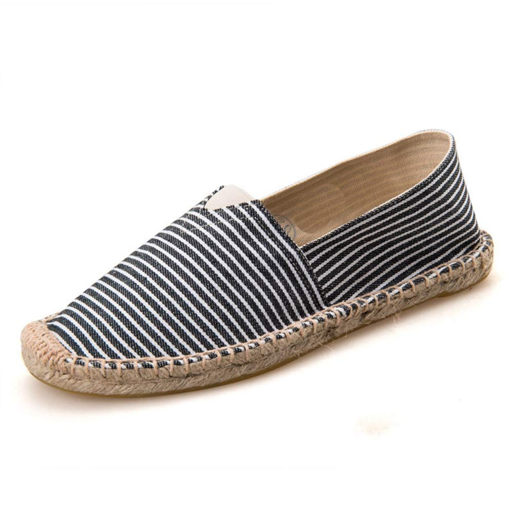 Womens Canvas Flats Shoes Striped 2018 Fashion Espadrilles Slip-On Flat Breathable Summer Casual Loafers