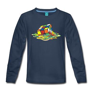 8cc87ce638123 Spreadshirt Rubik s Cube en Train De Fondre T-Shirt Manches Longues Premium  Ado  Amazon.fr  Vêtements et accessoires