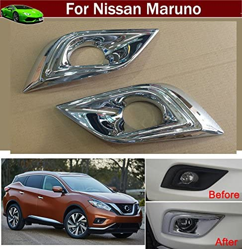 2pcs ABS Chrome Rear Fog Light Lamp Frame Molding Cover Trim Strip Decorative Emblems For Nissan Murano 2015 2016 2017 2018