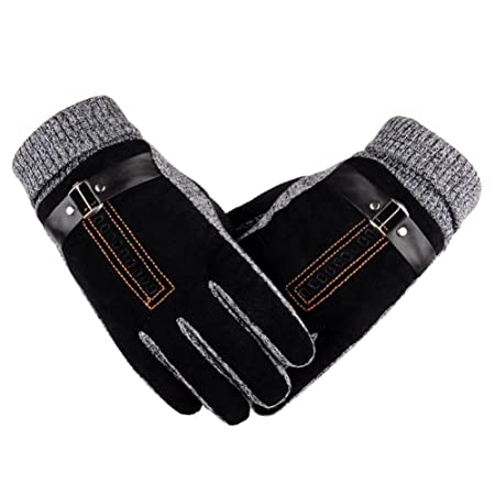 Sincere Unisex Winter Skiing Full Finger Gloves Windproof Plaid Wrist Warmer Thicken Lining Anti-skid Sport Snowboard Cycling Mittens Apparel Accessories