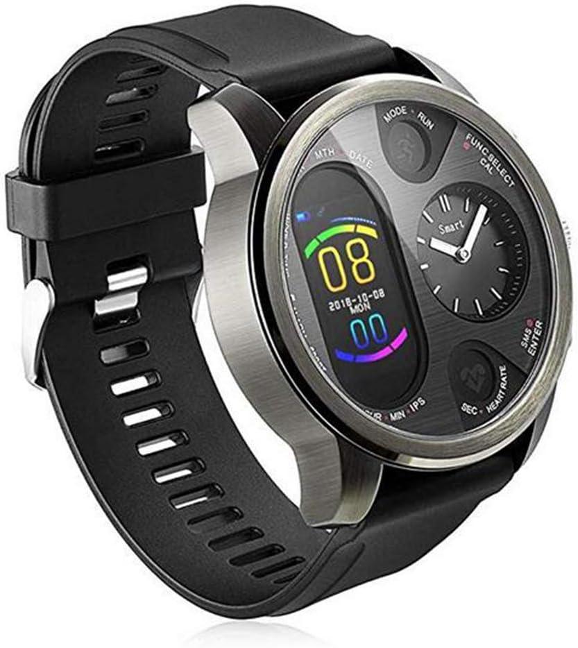 Reloj inteligente para hombre Dual Time - Reloj inteligente híbrido con monitor de frecuencia cardíaca presión arterial monitor de actividad física Bluetooth Smart watch para hombre iOS Android