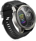 Dual Time Smart Watch Mens,Hybrid Smart Watch Heart Rate Blood Pressure