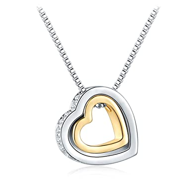 Amazon Alaxy Love Together Heart Shape Pendant Necklace