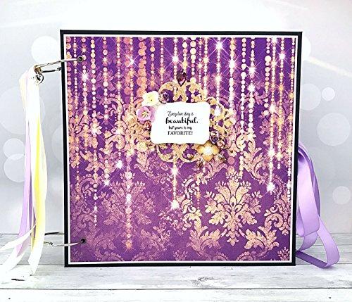 Kristabella Creations 12x12 Wedding memory book, metal rings binder, Wedding Photo Album, Anniversary scrapbook album, Wedding Gift by Kristabella Creations