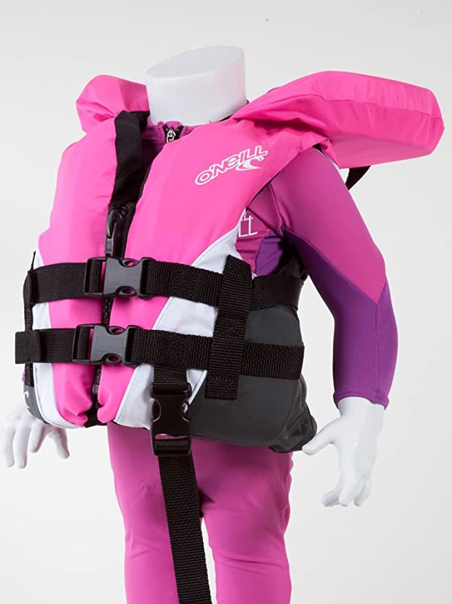 O'Neill Wake Waterski Infant USCG Vest, Pet/White/Col best children's life vest