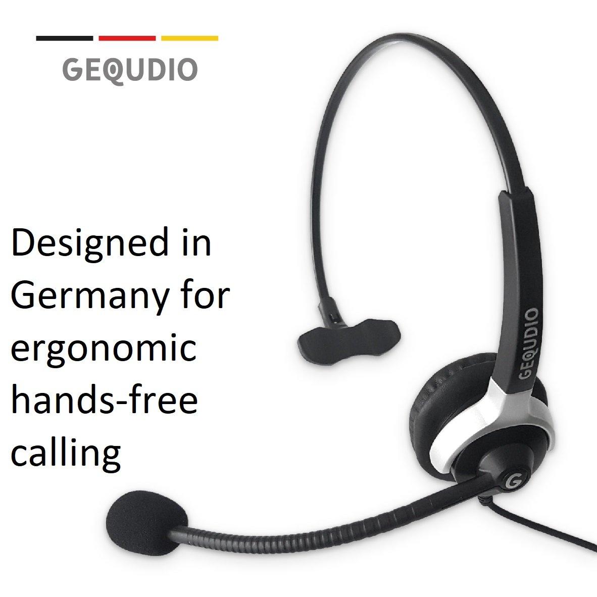 Auricular con micrófono para Aastra, MITEL y Polycom * teléfonos: Amazon.es: Electrónica