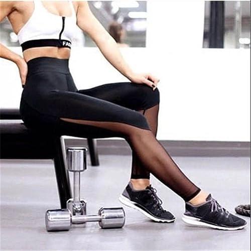 FEITONG Las mujeres se divierte los pantalones de las polainas del Athletic Gym Yoga Fitness Workout...