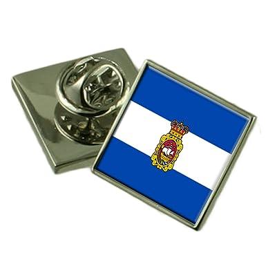 Amazon.com: Aviles Ciudad España Bandera Pin de valija ...