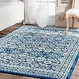 nuLOOM 200RZBD05A-53079 Traditional Persian Vintage Dark Blue Rug (5-Feet 3 X 7-Feet 9)