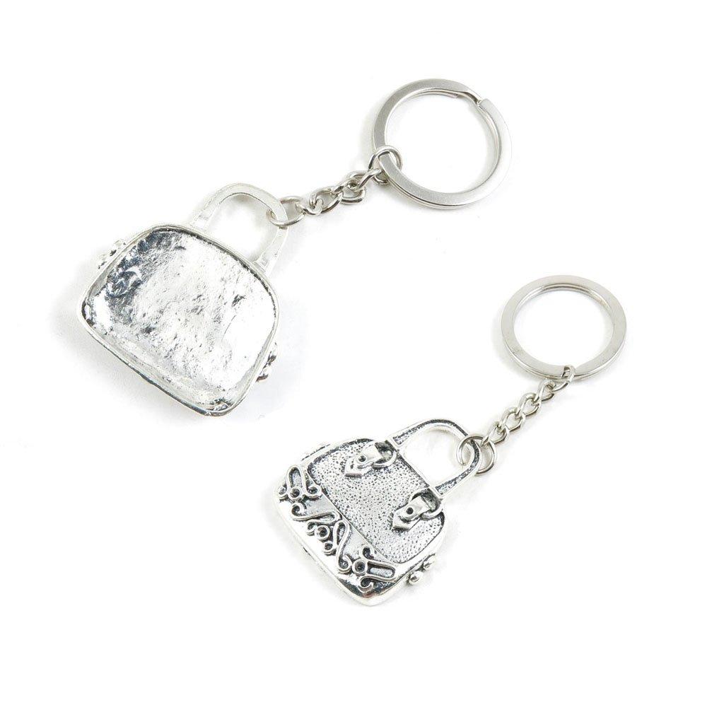 100 PCS Handbag Purse Shoulder Bag Keychain Keyring Jewelry Making Charms Door Car Key Tag Chain Ring L1YK8C