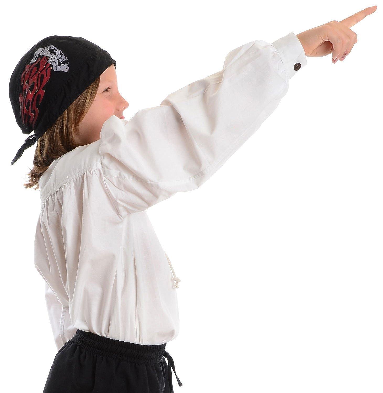 XXXL Blanco HEMAD Camisa pirata para ni/ños Algod/ón claro S