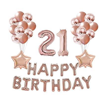 FENICAL 37 Piezas de Globos de Feliz cumpleaños con ...