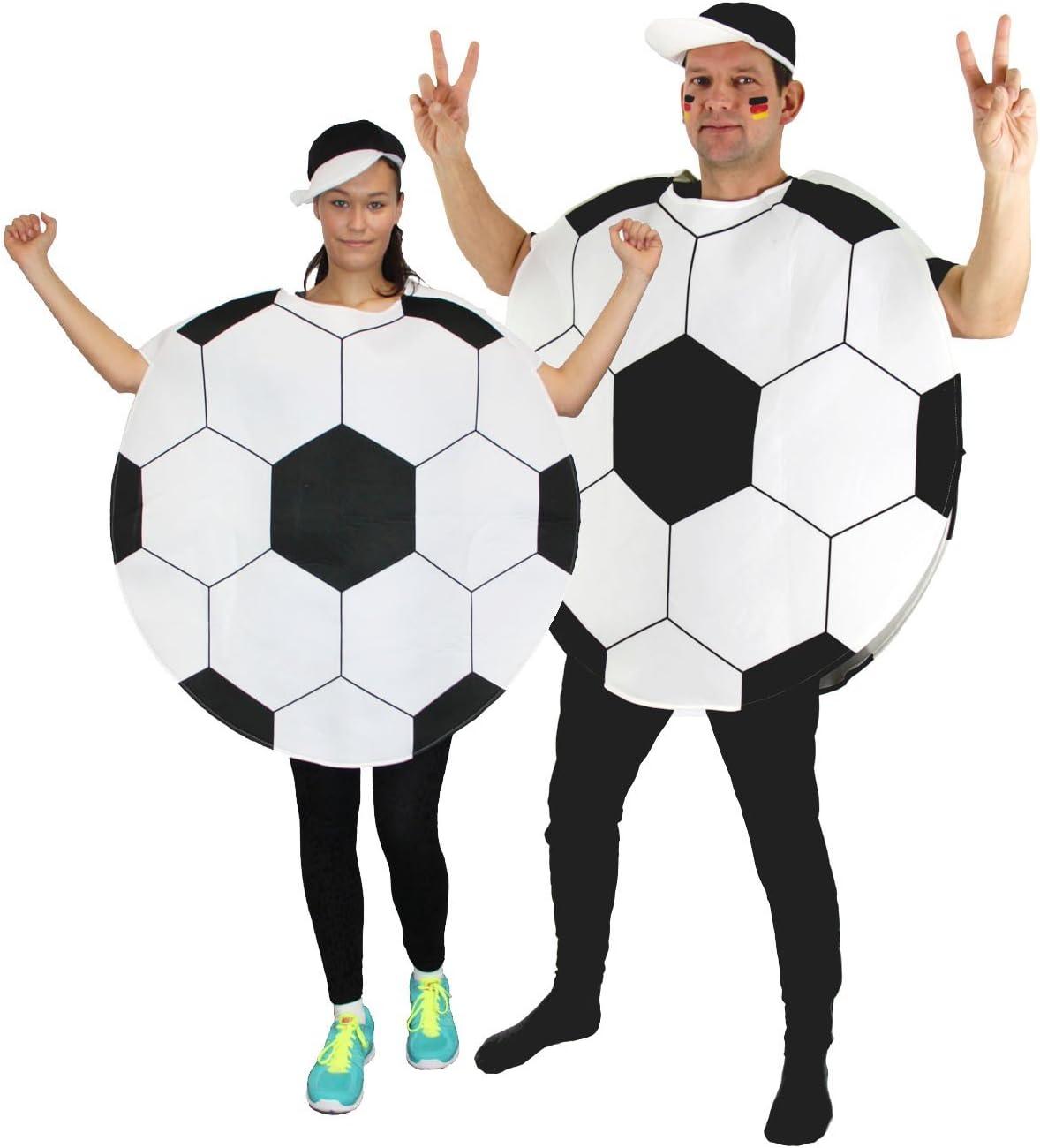 Foxxeo 40012 | Disfraz de pelota de fútbol, talla M - XXL