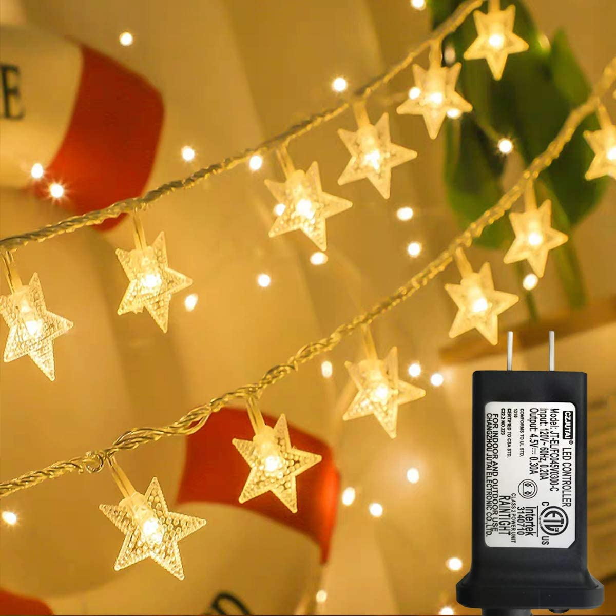 Star string lights with eight modes