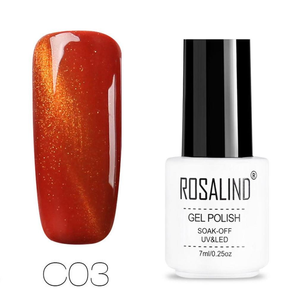 Amazon.com : Holographic Nail Polish Gel for Girls, Clearance Sale! Iuhan Nail Shining 3D Chameleon Cat Eye Magnetic Gel Gradient Starry Soak Off Nail UV ...