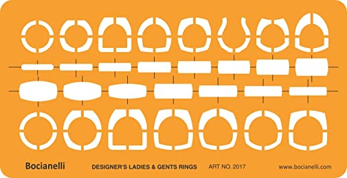 Jewellery Jewelry Art Craft Design Drawing Drafting Template Stencil - Ladies and Gents Rings