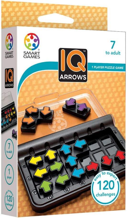 Smart games – IQ Arrows, Juego educativos, Juegos de Mesa para niños, Rompecabezas, Puzzle educa, Puzzles Infantiles, Juego de Viaje