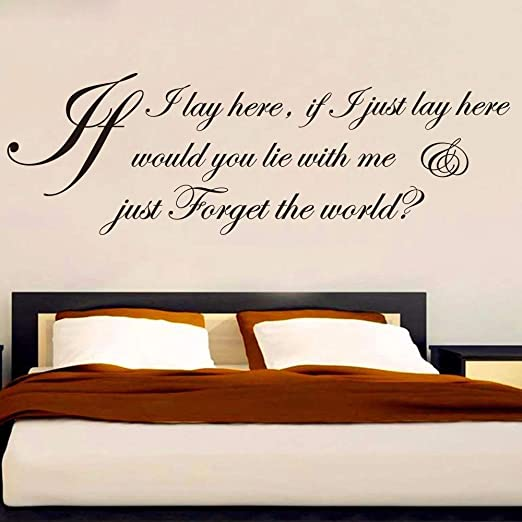 If I Lay Here Snow Patrol Lyric Cita Etiqueta de la pared ...