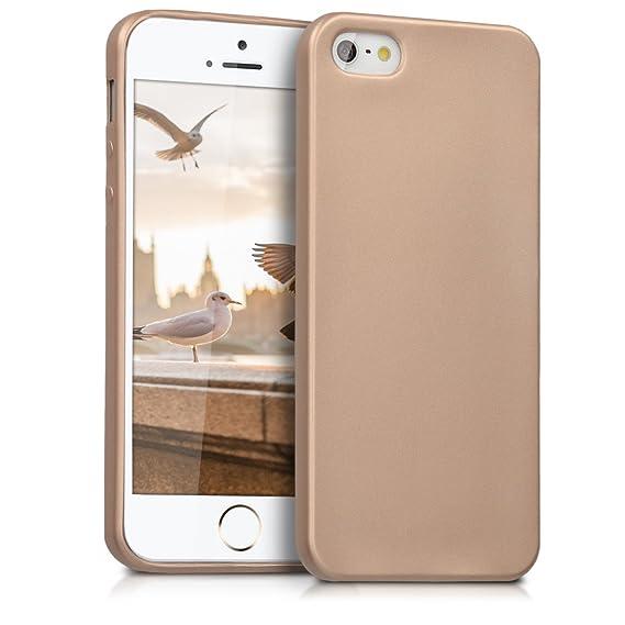 kwmobile Apple iPhone SE / 5 / 5S Hülle - Handyhülle für Apple iPhone SE / 5 / 5S - Handy Case in Metallic Gold