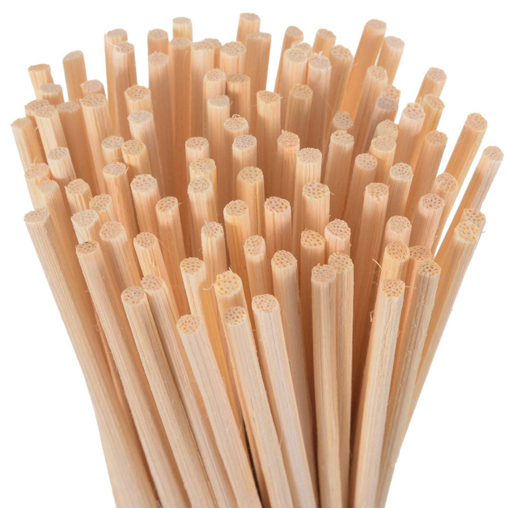 Yummi697 30/100Pcs Rattan Replacement Sticks Natural Reed White Oil Fragrance Diffuser Bedroom Bathrooms Decor Gifts by Yummi697