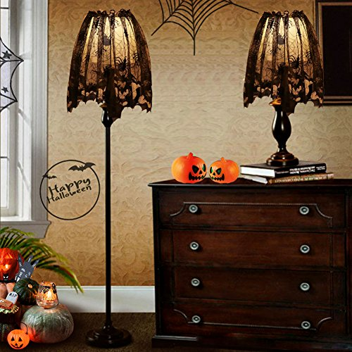 Aerwo halloween decorations lace lamp shades black bats spiders aerwo halloween decorations lace lamp shades black bats aloadofball Images