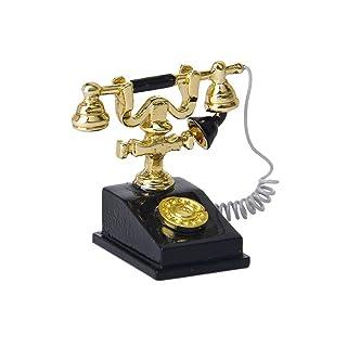 TOOGOO(R) 1/12 casa delle bambole in miniatura telefono retro' vintage telefono