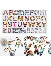 Resin Casting Alphabet Mold, Number Alphabet Letter Shaped for DIY Sugar Cake Craft Hand Making Molds Set Kit Clay Crafts
