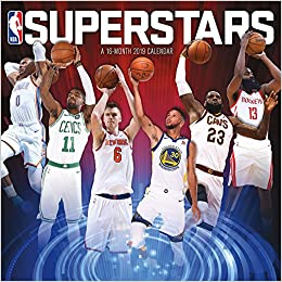 2019 Nba Calendar 2019 NBA Superstars Wall Calendar: Trends International