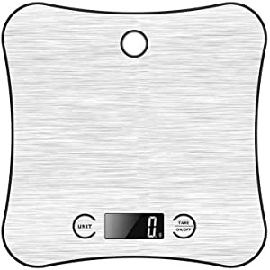 Hangable Digital Kitchen Scale, Food Scale Multifunction Flat Stainless Steel Portable Easy To Clean Weigh Scale For Cooking Bake-5kg/1g
