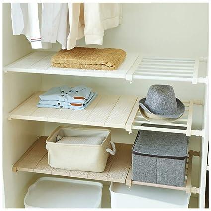 APSOONSELL Ajustable Shelf Closet Storage Rack Organizer, Expandable Closet  Shelf Space Saver Racks For Kithchen