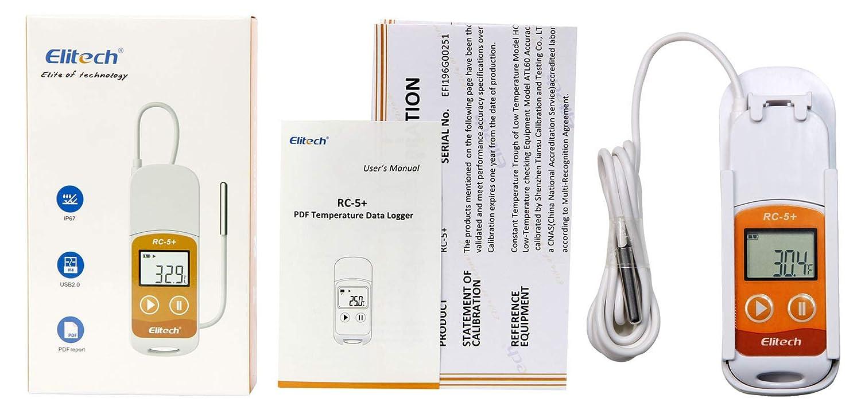 Amazon.com: Elitech RC-5 - Grabador de datos de temperatura ...