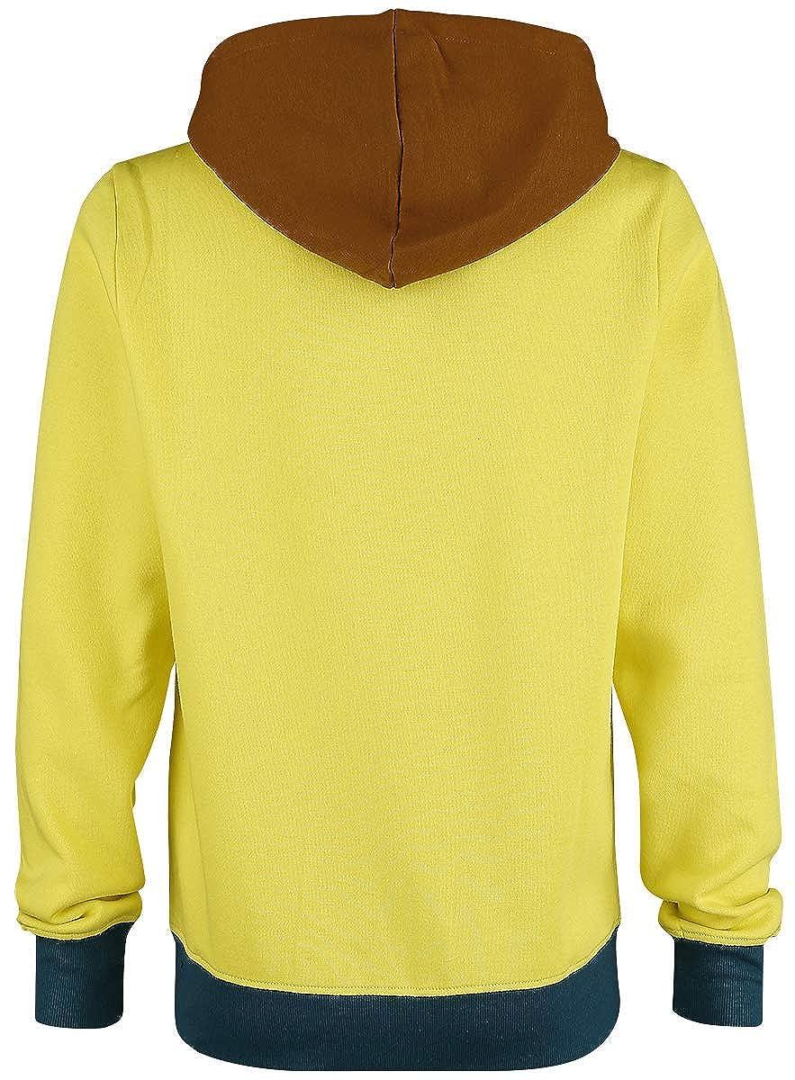 Rick and Morty Sweatshirt Morty Novelty Hoodie Yellow-L