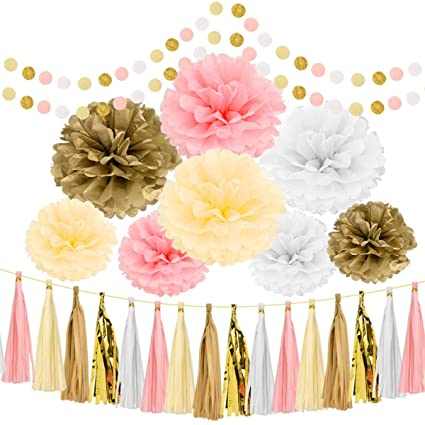 Amazon artoper 35 pcs party decoration set party supplier set artoper 35 pcs party decoration set party supplier set of 8 hanging tissue paper flower mightylinksfo