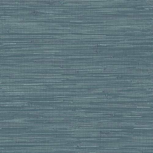 WallPops NuWallpaper by Brewster NU2874 Navy Grassweave Peel & Stick Wallpaper, - Weave Grass Wallpaper