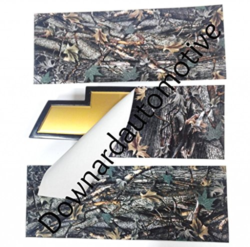 DownardWraps™ - Wrap Vinyl Sheets (2) - You-Cut your own Tree Camo Decal (Overlays) for Chevy Bowtie Grill Emblem (Badge) - 11