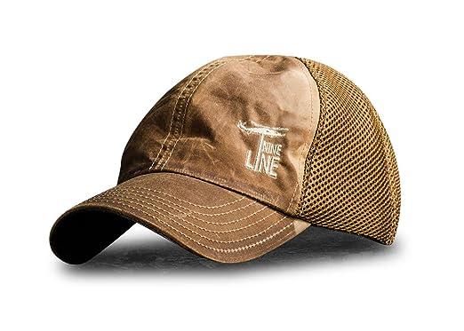 5e3629e6776 Tan American Made Mesh Back Hat Drop Line at Amazon Men s Clothing ...