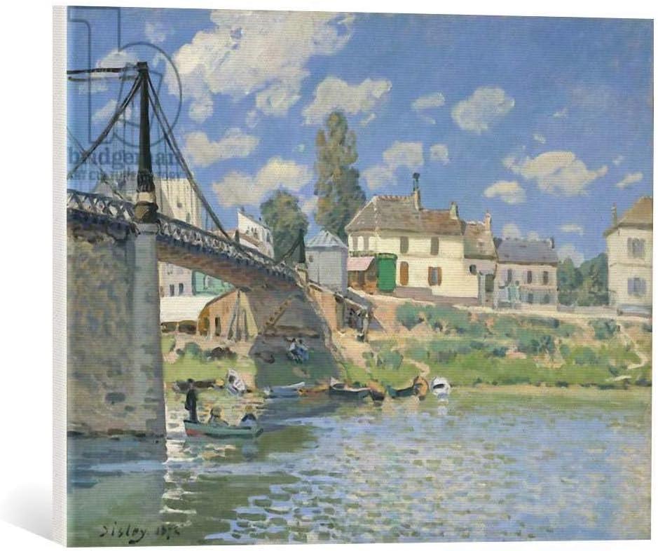 Kunst für Alle Cuadro en Lienzo: Alfred Sisley The Bridge at Villeneuve-la-Garenne 1872