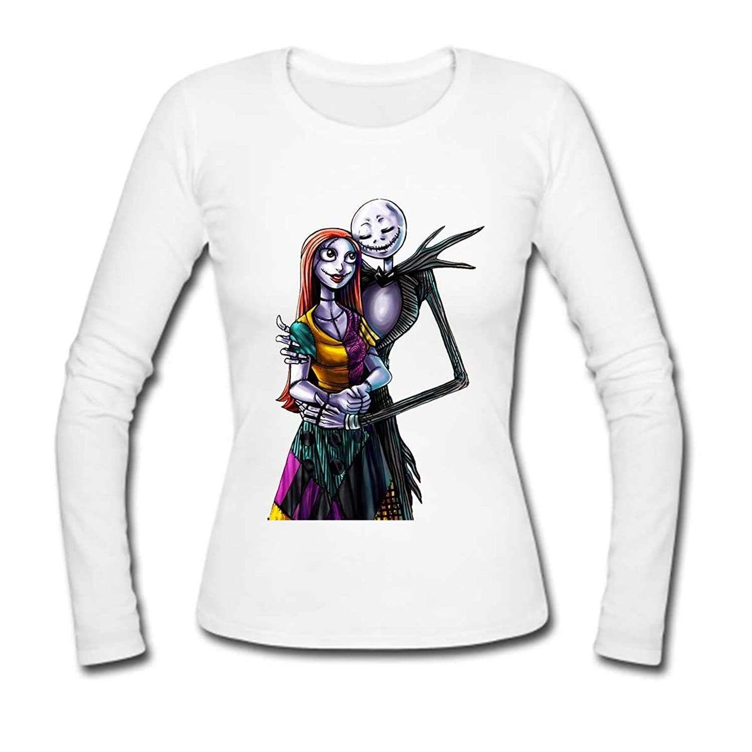 Women Cotton Long Sleeve T-shirt The Nightmare Before Christmas ...