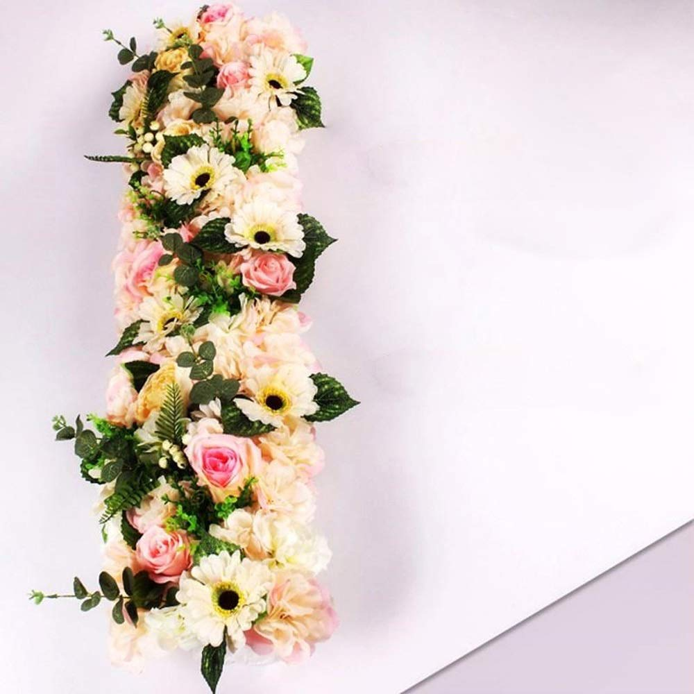 MS Furniture Wedding Background Wall Flower Wedding Living Room Decoration Flower Arrangement Arch Flower Room Decoration Pre-function Area Flower Wall Stage Layout Flower Props (multiple Colors Optio by MS Furniture