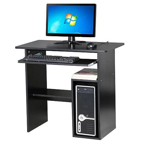 Mesa negra para PC u ordenador portátil de tinkertonk; para uso en el