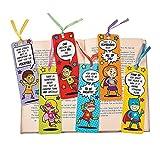 "Fun Express Superhero Laminated Bookmarks | Size: 2'' x 6"" | (96 Count)"